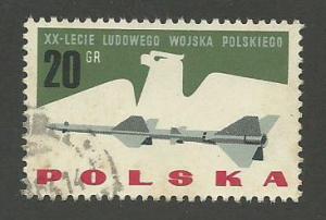 1963 Poland Scott Catalog Number 1166 Used