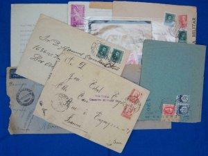 9 Spanish Civil War Censored Covers (S17256)
