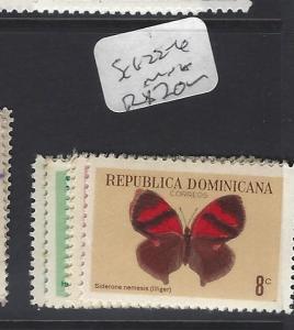 DOMINICAN REPUBLIC   (PP2512B)   BUTTERFLY  SC 622-6  MNH