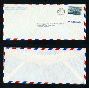 Air Mail Cover Pacific & Atlantic Shippers, NY, NY to La Porte, IN - 10-1-1948