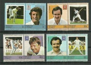 1984 Tuvalu-Nanumea Cricket World Leaders C/S MNH