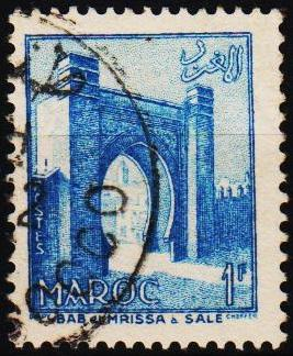 Morocco(French). 1955 1f S.G.449 Fine Used
