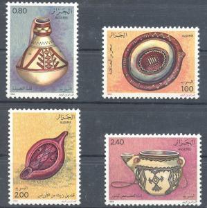 Algeria 1984 Art Cultures Traditional Pottery Platter Dish Stamps Mi 846-849