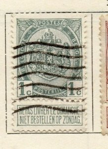 Belgium 1907 Early Issue Fine Used 1c. NW-112763