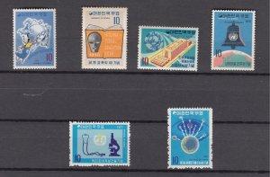 J27025 1970-1 south korea mnh sets of 1 #699,700,708,734,749,755, $22.40 scv