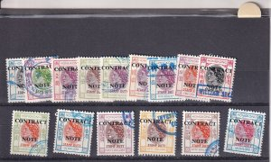 1972, Hong Kong, Contract Issue, Sc #322G-347G, 15 Different (S19292)