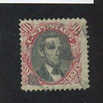 U.S. #122 Used Fine Cpl Creases Cat $1,700