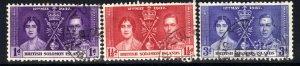 British Solomon Islands 1937 KGV1 Set Coronation SG 57 -59 ( J297 )