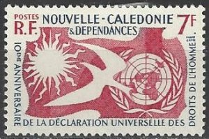 New Caledonia  306  MNH  Declaration of Human Rights 1958