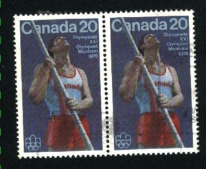 Can #664   -1   pair  used VF 1975 PD