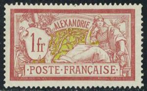 French Offices Abroad Scott Alexandria 28 Unused no gum as issued.
