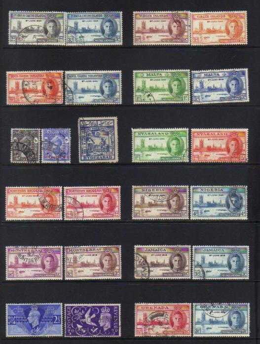 OMNIBUS 1946 VICTORY USED SETS X 13