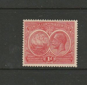 Bermuda 1920/1 Tercentenary, 1st Issue,1d Red MM SG 65