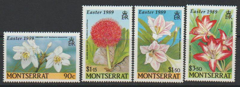 Montserrat SG 788 - 791 set of 4  MLH -  Flowers
