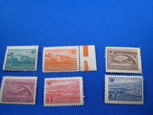 ALBANIA 1945 - SCOTT #  361-366   MNH