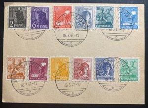 1947 Leipzig Germany Postwar Postcard Cover Fair Cancel