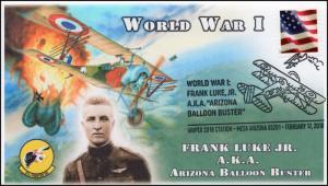 18-035, 2018, Frank Luke Jr.,  Pictorial Postmark, Event Cover, Mesa AZ
