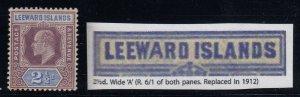 Leeward Islands, SG 32a, MLH (sm toned spot) Wide A variety