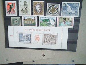 Austria   MNH   nice lot of stamps and Souvenir Sheet