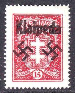 LITHUANIA 214 WW2 KLAIPEDA OVERPRINT OG H M/M XF VERY NICE GUM