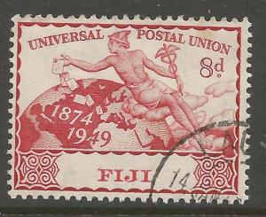 FIJI 143, USED STAMP, UPU ISSUE, COMMON DESIGN TYPE,1949