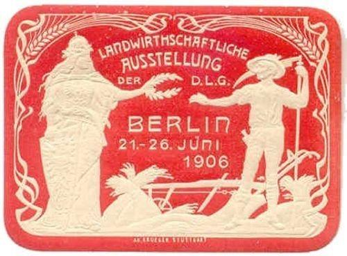 Germany 1906 Berlin Agricultural Expo Diecut