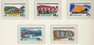French Polynesia Stamps Scott #253 To 257, Mint Never Hinged - Free U.S. Ship...