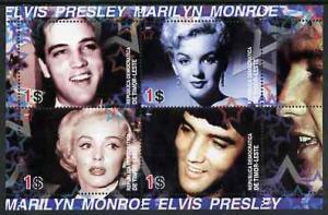 Timor 2004 Elvis Presley & Marilyn Monroe #02 perf sh...