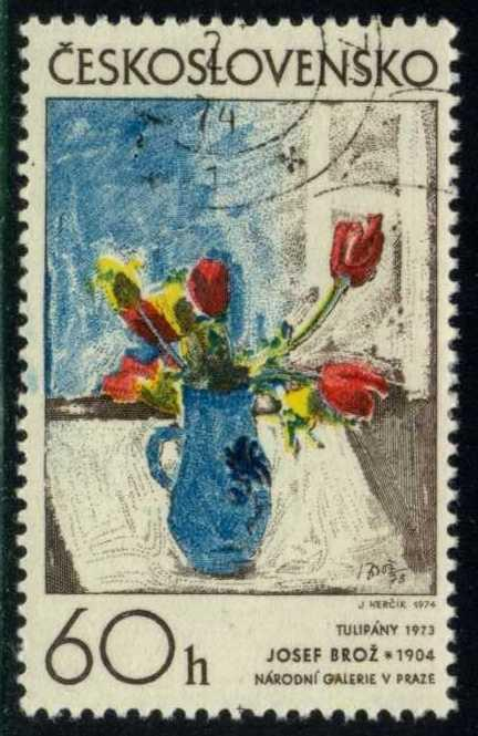 Czechoslovakia #1921 Tulips, by Broz, CTO (0.20)