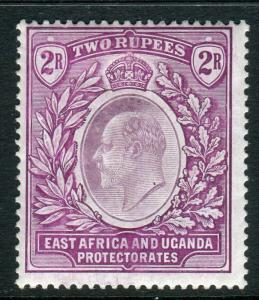 EAST AFRICA & UGANDA-1906 2r Dull & Bright Purple.  A mounted mint example Sg 27