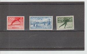 Norway  Scott#  B50-B52  MNH  (1951 Winter Olympics)