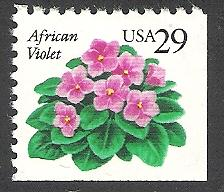 US Cat # 2486, Violets, MNH*-