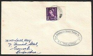 GB SCOTLAND 1963 cover Clyde steamer MAID OF ASHTON cachet.................13937