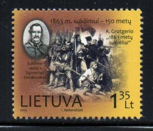Lithuania Sc 995 2013 1863 Uprising stamp set mint NH