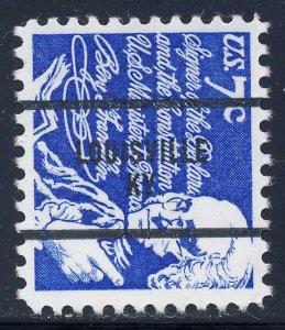 Louisville KY, 1393D-83 Bureau Precancel, 7¢ Franklin