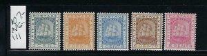 BRITISH GUIANA SCOTT #107-111 1882 ISSUE WATERMARK 2- MINT (#107 NO GUM) HINGED