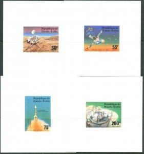 BURKINA FASO Sc#398-400,C238-40 1976 Viking-Mars Space Cpl Card Proofs MNH