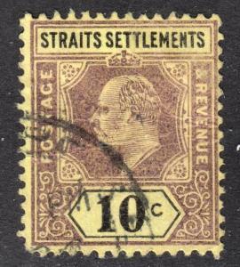 Malaya Straits Settlements Scott 98  wtmk CA  Fine used.