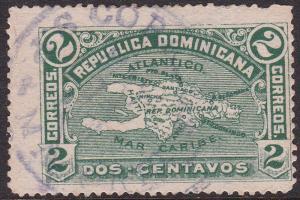 DOMINICAN REPUBLIC 1901 (May 14) S.P. DE MACORIS date stamp on Mi.87 2c Green
