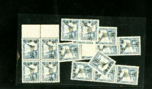 Manchukuo Stamps # C1-4 Varieties 14 Values All NH