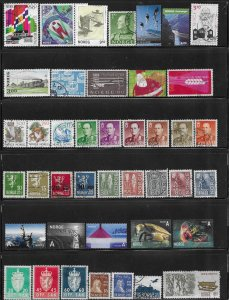 12323 -  Norway 43 diff. stamps - good starter collection