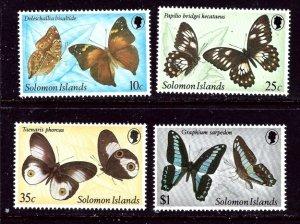 Solomon Is 461-65 MNH 1982 Butterflies    (ap5480)