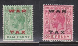 BAHAMAS Scott # MR11-12 MH - KGV With War Tax Overprint