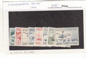 J25747 1971-7 greenland set mnh #78-85 views, all checked