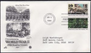 U.S. # 2838a-j, World War II 1944 events, Art Craft Cachets