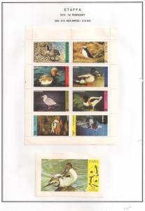 SCOTLAND - STAFFA - 1974 - Sea Birds - Perf 8v, Souvenir Sheets - M L H
