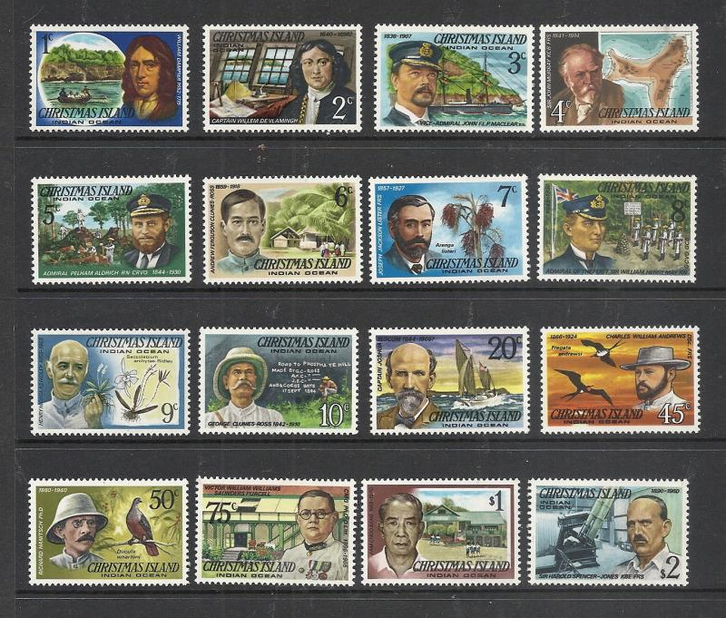 Christmas Island #69-84 comp mnh Scott cv $7.55