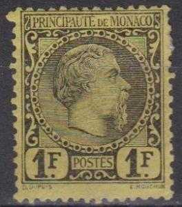 Monaco #9 F-VF Unused CV $1750.00 (A5450)