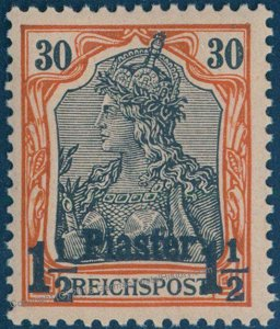 Germany 1902 Offices in Turkey Unissued MiII 1 1/2Pi on 30pf MNH Expertize 95804
