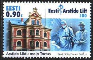 Estonia. 2021. 1006. Medical Association, Doctors. MNH.